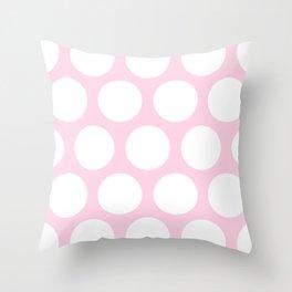 Large Polka Dots: Pink Throw Pillow