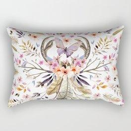Boho nature circle Rectangular Pillow