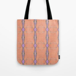 Purple and Salmon Stripes Tote Bag