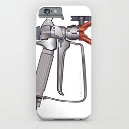 Painter Spray Gun Illustration iPhone Case