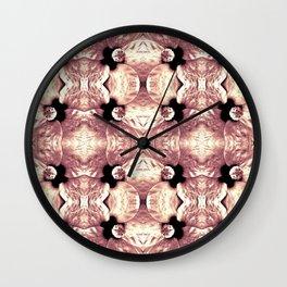 Shiny Old Rose Flower Design, Pattern Wall Clock