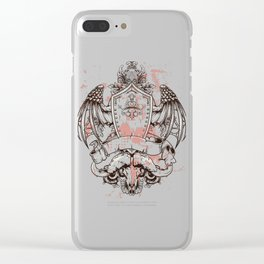 Medieval Crest Clear iPhone Case