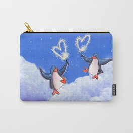 penguins spread love with sparklers Carry-All Pouch