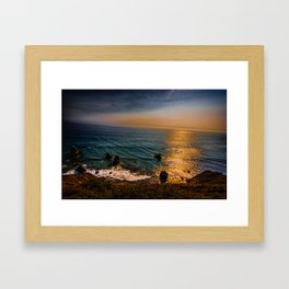 Lost Coast Cliffs Framed Art Print