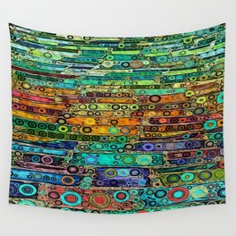:: Technicolor Walkway :: Wall Tapestry