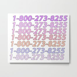Logic Suicide Hotline Metal Print