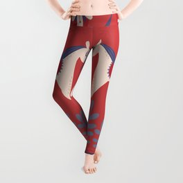 Swedish Christmas 2 Leggings