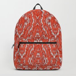 big diamond ikat in vermilion Backpack