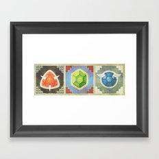 Troopa Triptych Framed Art Print