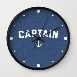 Captain Nautical Quote Wall Clock