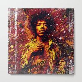 Jimi Hendrix   Pop Art   Old School Collection Metal Print