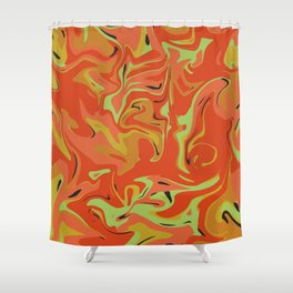Papaya Juice Shower Curtain