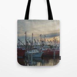 Ships at the Dock Tote Bag
