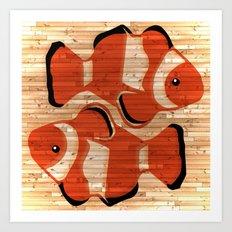 Clownfish Pisces Art Print