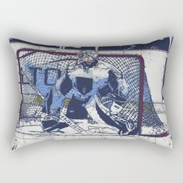 The Goal Keeper - Ice Hockey Rectangular Pillow
