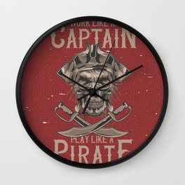 Work like a Captain Wall Clock
