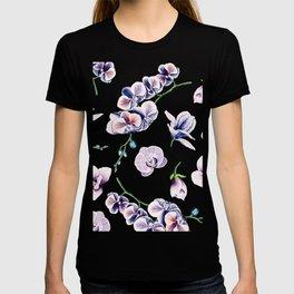 Lavender Blossom Floral Pattern T-shirt