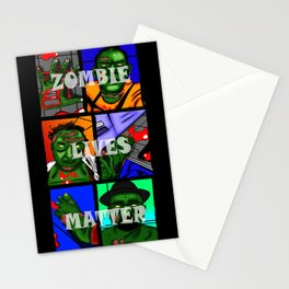 Zombie Lives Matter Collage Stationery Cards