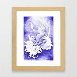 Ballpoint pen Koi Framed Art Print