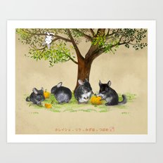 The chins family Art Print