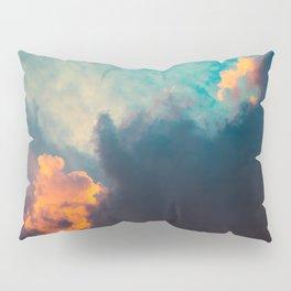 Clouds illuminated and rising sun Pillow Sham