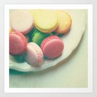 macarons Art Prints featuring Macarons  by Marianne LoMonaco