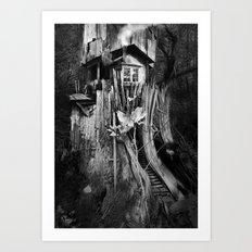 COTTAAGE TREE Art Print
