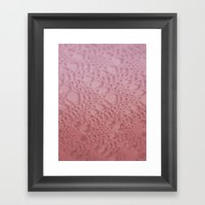 raspberry cotton ombre crochet Framed Art Print