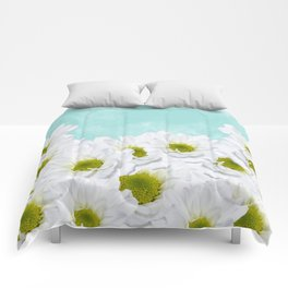 Summer Day Floral - Daisies Comforters