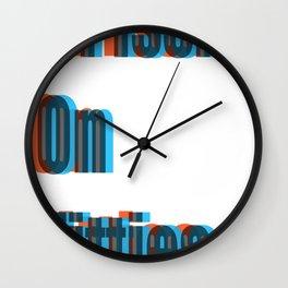 #PissinOnTitties Wall Clock