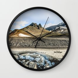 """Extrusion """"Camel"""" at the foot of the Avachinsky volcano Wall Clock"""