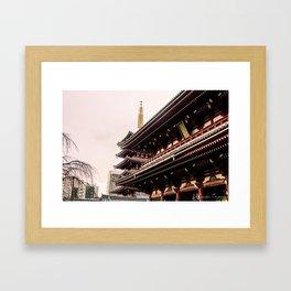 Red Temple Framed Art Print