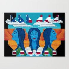 Blue Women Canvas Print