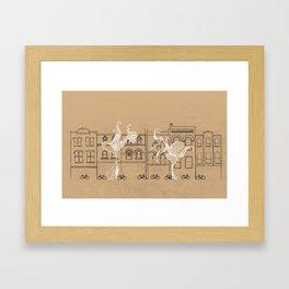 Queen Street Canvas Framed Art Print