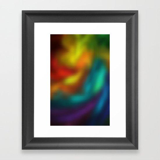 Color Mosaic Framed Art Print