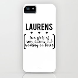 laurens // white iPhone Case