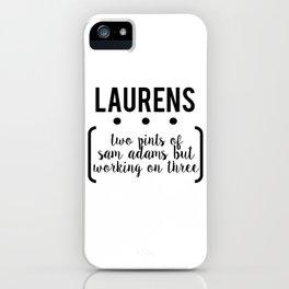 laurens // white iPhone Case