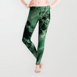 Green Marble Leggings