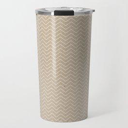 Chevron on Cardboard Travel Mug