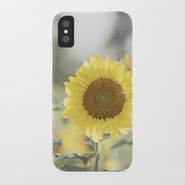 Sunflower Flower Photography, Yellow Sunflowers Floral Nature Photography iPhone Case