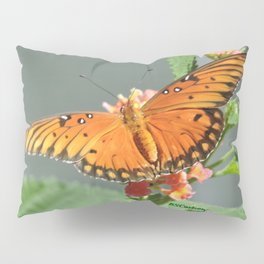 Gulf Fritillary on Lantana Pillow Sham