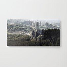 Hidden House in Majestic Forest Metal Print