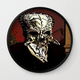 Victorian Predator Skull Wall Clock