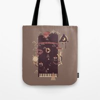 play Tote Bags featuring Play! by Hector Mansilla