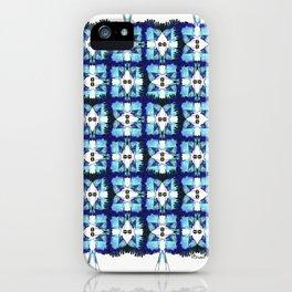 Blue F - blue birds pattern iPhone Case