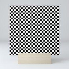 Classic Black and White Race Check Checkered Geometric Win Mini Art Print