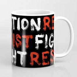 Question Resist Fight - pattern Coffee Mug