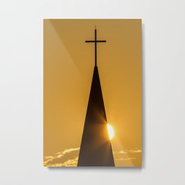 Sunrise & Steeple Metal Print