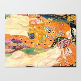 Klimt Study (Water Serpents) Canvas Print