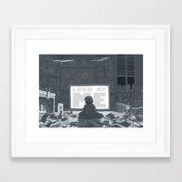 geek Framed Art Prints featuring Geek by Siou Escallon